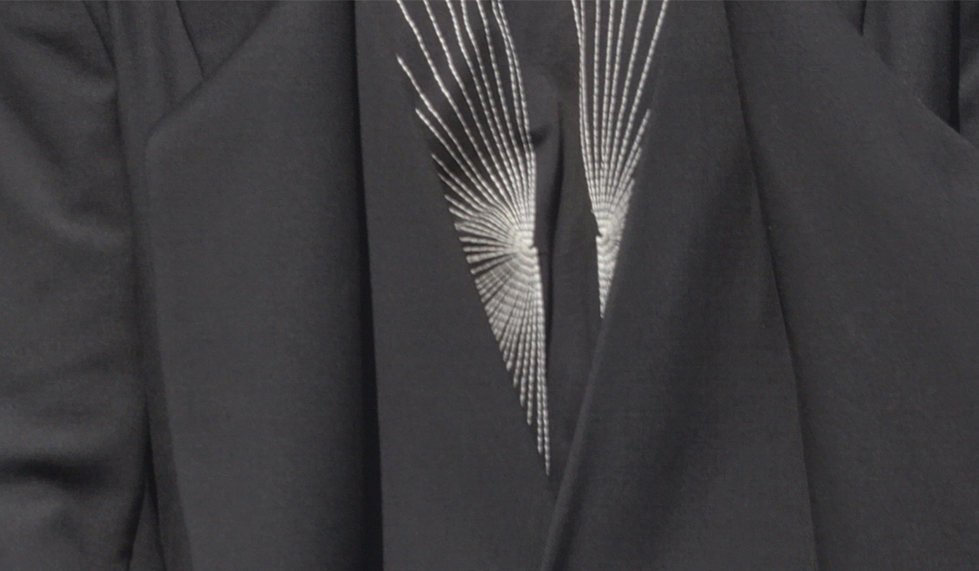 rick owens shirt detail of luxury and avantgarde man outfit
