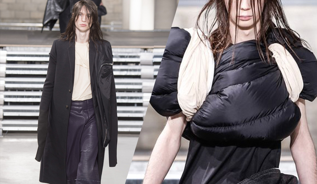 Rick Owens FW 17-18 men collection: Gunge-Luxe Fashion With A Decadent Twist