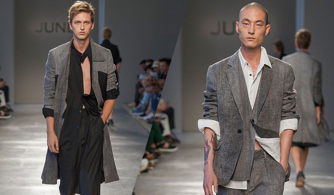 Jun Li summer 2017 men's collection: Sharp Tailoring with a New Age Aesthetic